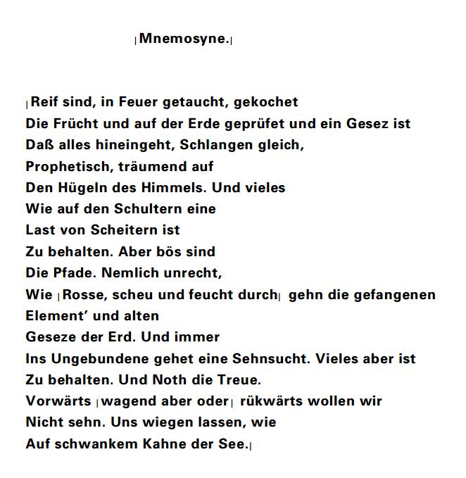 Mnemosyne _Hoelderlin